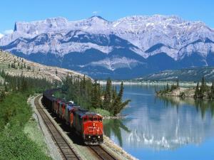 A beautiful train ride