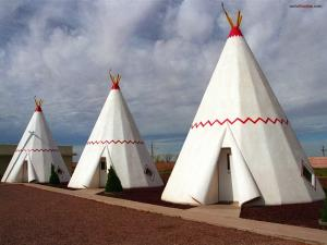 Shaped teepees apartments