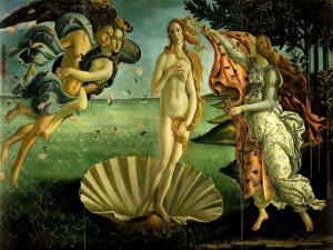 The Birth of Venus, painted by Sandro Botticelli