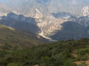 The Chicamocha Canyon (Colombia) from air