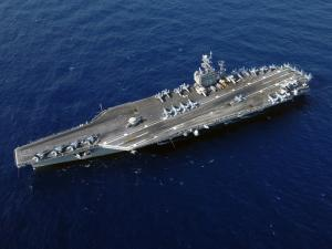 Supercarrier USS Harry Truman from the air