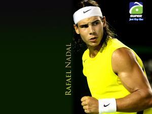 Rafael Nadal with yellow shirt