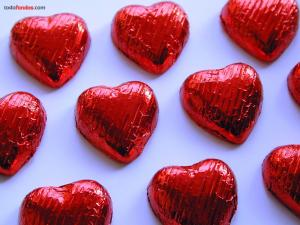 Heart-shaped chocolates