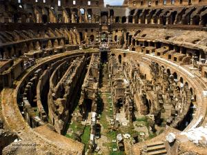 The remains of the Roman Colosseum