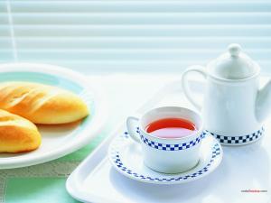 Tea and scones for breakfast