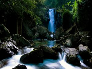 Water flowing from nature