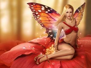 A blonde fairy