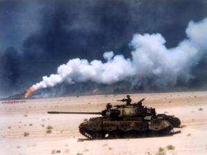Tank moving toward to target