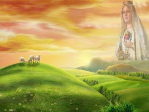 The Virgin Mary into heaven