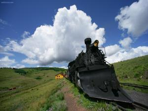 Old steam-powered train