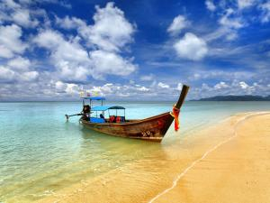 Boat on a beach in Thailand