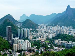 View of Botafogo and Corcovado in Rio de Janeiro (Brazil)