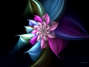 A beautiful digital flower