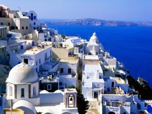 Fira, capital of Santorini (Greece)
