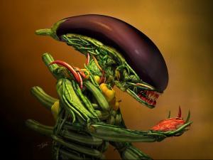 Vegetarian alien