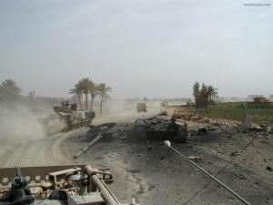 Tank destroyed