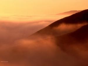 Haze under an orange sky