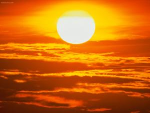 The Sun, a ball of fire in the sky