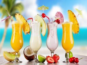 Delicious exotic cocktails