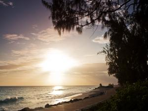 Sunrise in the outskirts of Bridgetown (Barbados Island)