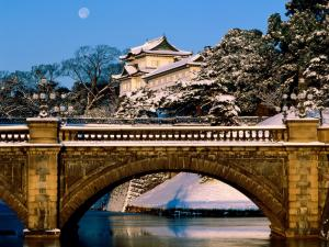 The bridge Nijubashi of the Tokyo Imperial Palace (Japan)