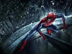 Spider-Man climbing a skyscraper