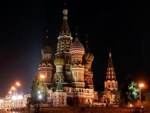 Saint Basil's Cathedral at night (Moscow)