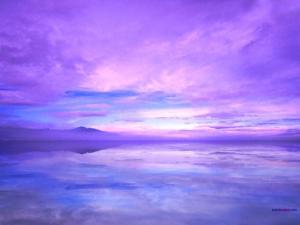 A purple sky