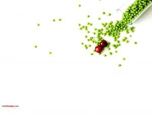 Peas and cherries