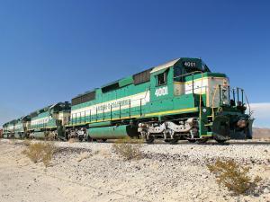 Green locomotive