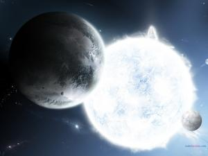 Planets attracted to a white star