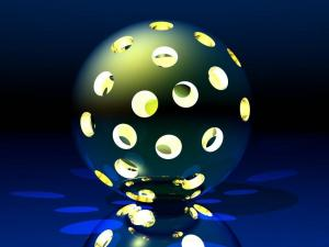 Illuminated sphere with holes