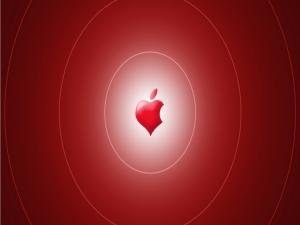 Red heart of Apple