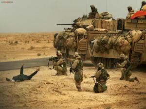 U.S. Marines on a real mission