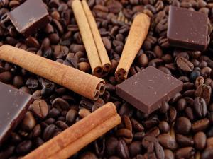 Coffee, chocolate and cinnamon