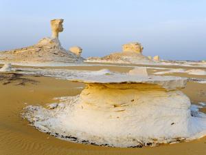 The Saharan White Desert, in the Farafra depression (Egypt)