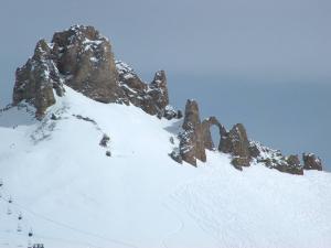 Ski slopes in Tignes, France