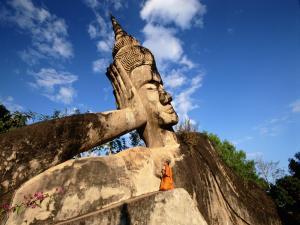 Buddha reclined, in Buddha Park (Vientiane, Laos)