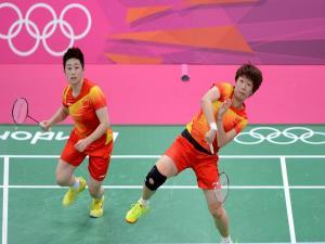 Chinese female badminton team (Yu Yang and Wang Xiaoli)