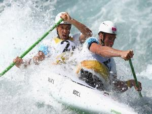 Luka Bozic and Saso Taljat in canoe double (C2)