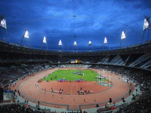 Interior of the Olympic Stadium of London 2012