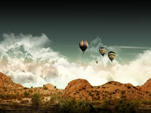 Balloons in the desert