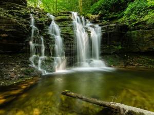 Multiple small waterfalls