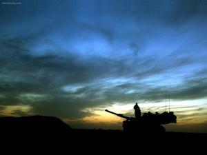 Tank at night