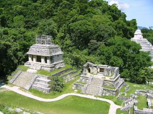 The Temple of the Sun, at the archaeological site of Palenque (Chiapas, Mexico)