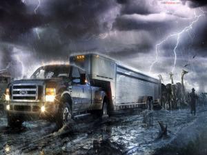 Noah's Ark on a truck