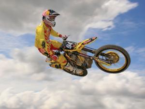 Jumping in motorbike