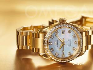 Omega Seamaster Watch with gold and diamonds