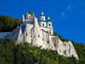 Legendary church on the chalk rock (Ukraine)