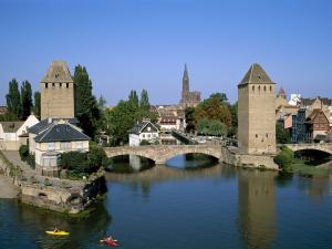 Stone bridge in Alsace (Strasbourg, France)